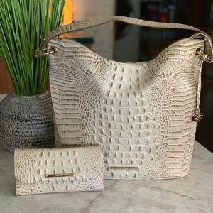 Brahmin Sevi Vanilla Melbourn Bag w/Wallet